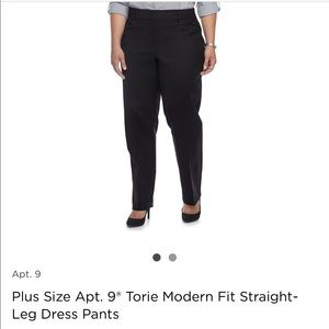 Apt 9 Plus Size Modern Fit Dress Slacks Black